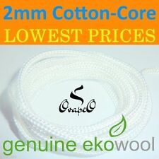 GENUINE EKOWOOL Cotton-Core Braided Silica Wick 2mm Authorized Distributor