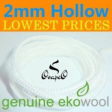 GENUINE EKOWOOL Hollow Braided Silica Wick 2mm  Authorized Distributor