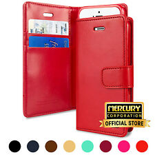 For Apple iPhone 5 5s SE [MERCURY] BlueMoon Diary Card Flip Wallet Case Cover
