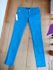 CALVIN KLEIN CK LOW RISE SKINNY BRIGHT TURQUOISE PINK AQUA GREEN JEANS  BNWT