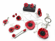 Handmade fimo gorgeous poppy remembrance flower great choice gift wrapped