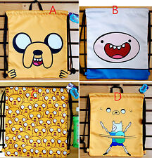"""CN Adventure Time Satin Drawstring Backpack for ONE 13.5""""X15"""" - A/B/C/D"""