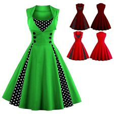 Women 50's 60's Rockabilly Dress Vintage Style Swing Pinup Housewife Dresses NEW