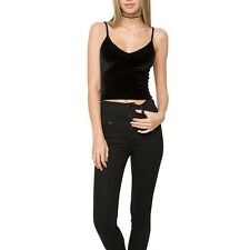 Sexy Women Deep V Spaghetti Strap Vest Tank T-Shirt Cocktail Party Tops Camisole