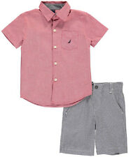 """Nautica Little Boys' Toddler """"Cool Check"""" 2-Piece Outfit (Sizes 2T - 4T)"""