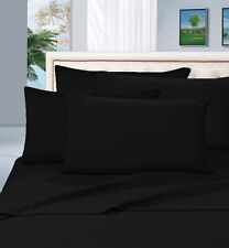 HOTEL COLLECTION 1000TC EGYPTIAN COTTON 2PC PILLOW CASES BLACK SOLID/STRIPED