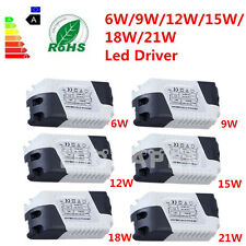 New Dimmable LED Light Lamp Driver Transformer Power Supply 6/9/12/15/18/21W#FO4