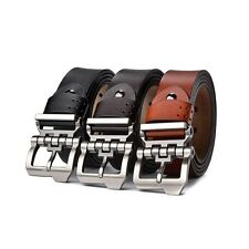 Fashion Retro Men Belt Pin Buckle Belt Genuine Leather Waistband Jeans For Gift