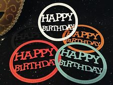 Die Cuts - Happy Birthday (Round) x10 - Cardmaking & Scrapbooking