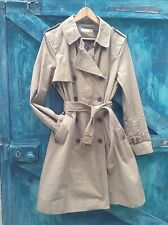 WOMENS COAT SIZE 16 DESIGNER WHISTLES NEW BROWN TRENCH COAT VINTAGE STYLE MAC VG