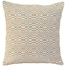 "Handmade Kilim Cushion Cover 20"" 24"" Cotton Indian Persian Moroccan Beige Cream"