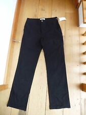 PENGUIN BLACK STRAIGHT LEG TROUSERS 32 WAIST 32 L 100% COTTON CHINOS