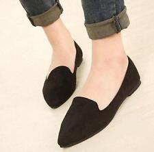 Fashion Womens Faux Suede Pointed Toe Casual Shoes Loafers Flats driving shoes