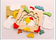 3D Wooden Puzzle Bois Puzzle Baby Gift Children Early Educational Wood Toy