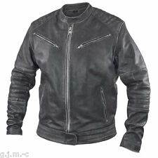Xelement BXU2793 Mens Distressed Soft Black Cowhide Leather Motorcycle Jacket