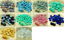 20pcs Flat Waved Square Chip Washer Czech Glass Beads 10mm x 4mm