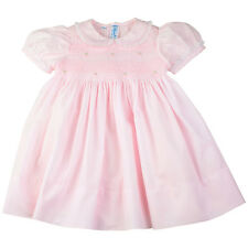Feltman Brothers Dress Girls Pink Smocked Dress with Lace Trim Infant NWT Easter