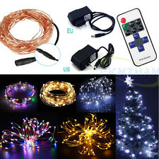 10m 100Led Starry Copper Wire Fairy String Lights Party Wedding Decoration Light
