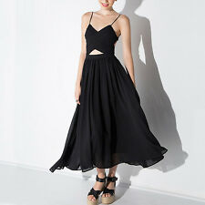 Womens Sexy Chiffon Backless Clubwear Evening Prom Dress Cocktail Party Dresses