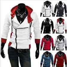 Assassins Creed Sweat Jacket Coat Costume Cosplay Hoodie Men's Clothing NEW