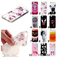 Patterned Ultra Slim Rubber Soft TPU Silicone Back Case Cover For Samsung Phone