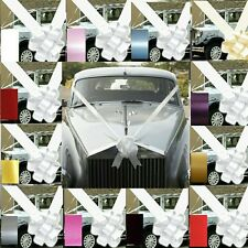 WEDDING CAR  DECORATION KIT PACK OF 1- 3 OR 5 LARGE BOWS AND 8M RIBBON