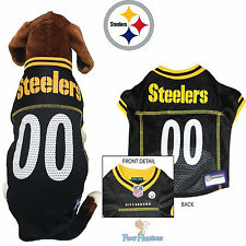 NFL Pet Fan Gear Pittsburgh Steelers Dog Jersey Shirt for Dogs XS-2XL BIG SIZE