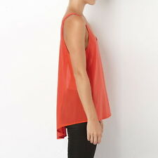 Sass & Bide cami top size XS, S, M (6,8,10,12) cotton with silk side panels