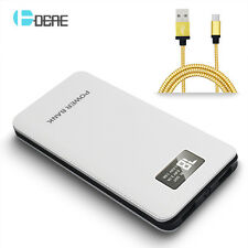 External LED Universal 50000mAh Power Bank 2USB LCD Battery Charger For Phone
