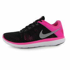 Nike Flex 2016 Running Shoes Womens Black/Grey/Pink Fitness Trainers Sneakers