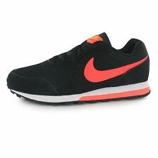 Nike MD Runner 2 Trainers Mens Black/Red Casual Sneakers Shoes Footwear