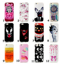 Rubber Patterned Silicone Clear Soft TPU Cute Back Cover Case For Samsung Phones