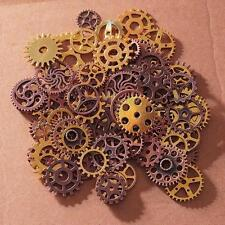 100X Antiqued Bronze Alloy Mixed Clock Steampunk Gear Pendant Charms 15mm 30mm A