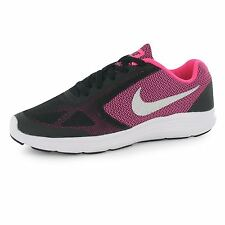 Nike Revolution 3 Trainers Junior Girls Black/Silver/Pink Sports Shoes Sneakers