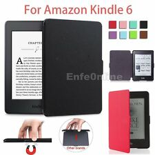 Slim Synthetic Leather Skin Smart Magnetic Case Cover For Amazon Kindle 6 (2014)