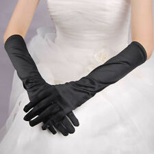 Sexy Opera Evening Satin Finger Gloves Ladies Womens Long Party Dress Prom U.S.A