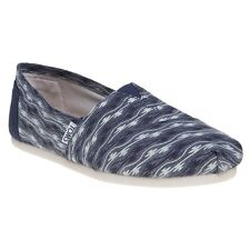 New Womens Toms Blue Classic Canvas Shoes Slip On