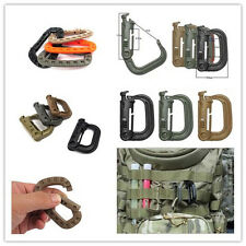 Climbing Carabiner D-Ring Shape Key Chain Clip EDC Shackle Camping Buckle Snap