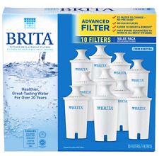 NEW Brita Water Filter 10 Pack Replacement Filters for all Pour-Through Pitchers