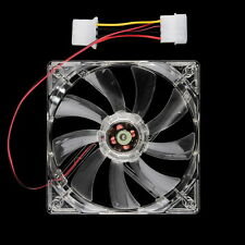 Easy Installed NEw 80mm Fans 4 LED Blue for Computer PC Case Cooling Fan OE