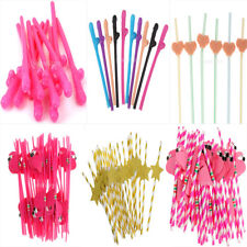 Wedding Hen Party Decoration Gift Funny Drinking Straws Birthday Party Supplies