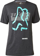 Fox Racing Mens Heather Black Kamakana Short Sleeve Tech T-Shirt Tee