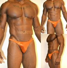 Mens Bodybuilding Posing Suit Soft Solid Copper Wet Look Sexy Hotactivewear4all