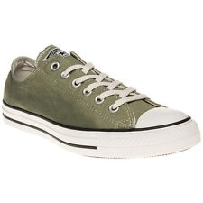 New Mens Converse Green All Star Ox Canvas Trainers Lace Up