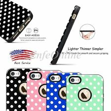 Soft TPU Soft Rubber Polka-dot Skin Bumper Case Cover For Apple iPhone 5 5S SE