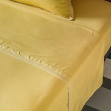 Plain Flat Sheet In Washed Percale By Maison Sarah Lavoine