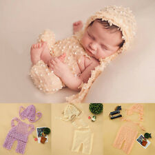 Newborn Baby Girl Boy Knitted Crochet Hat Costume Photo Prop Photography Outfit