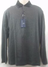 New Hart Schaffner Marx Mens Gray Collared 3 Button Sweater L M NWT $125 MSRP
