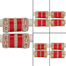 Indian Women Designer Chura Bangle Bridal Ethnic Choora Set Jewelry BCB127-PAR