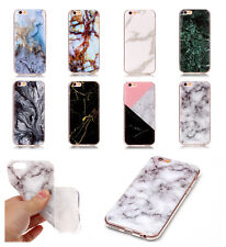 Granite Marble Pattern Effect Soft TPU IMD Case Cover For Samsung S/J/A Series